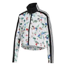 Adidas Size Chart Women S Clothing Adidas Originals Womens Allover Print Track Top At Amazon