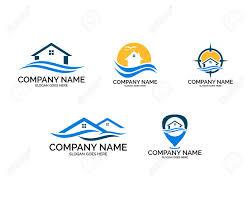 Beach House Logo Design Set Of Beach House Logo Design Template