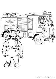 Colorare Sam Il Pompiere Disegno Il Camion Dei Pompieri E Il Comandante