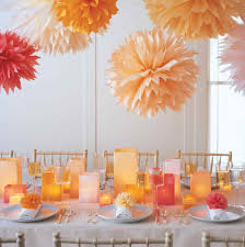 office summer party ideas. pompoms and luminarias office summer party ideas