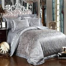 amazing bedding sets silver grey satin silk jacquard bedding set for amazing property grey king size