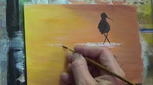 sunset bird acrylic painting for beginners clive5art you