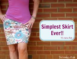 Simple Skirt Pattern Delectable Simple Skirt In 48 Minutes The Sewing Loft