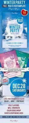 Winter Flyer Template Free Winter Party Flyer PSD Template By ElegantFlyer 10