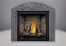 tall flame phazer log set newport panel arched surround