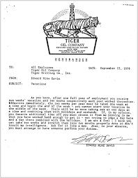Business Memorandum Examples Letters Of Note The Tiger Oil Memos