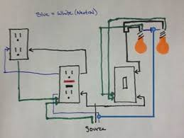 gfi outlet seperate light switch light won't turn off how to wire a gfci outlet with a light switch diagram gfi outlet seperate light switch light won't turn off!?