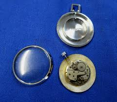vintage northstar open face pocket watch 17 jewel steel case for parts or repair