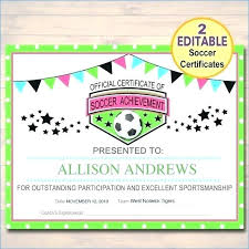 Soccer Certificate Templates For Word Baseball Award Template Soccer Certificate Template Editable Award