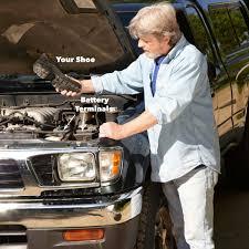 car won t start shoe to battery terminal