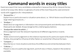 as a level business studies essay writing ppt video online command words in essay titles