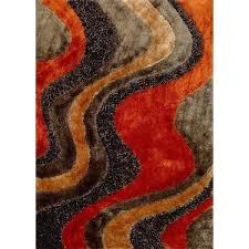 orange and teal area rug 5 x 7 medium orange and brown area rug viscose burnt