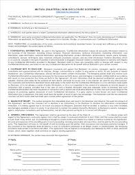 Mutual Confidentiality Agreement Extraordinary Download A Free NonDisclosure Agreement NDA Or Confidentiality