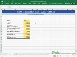 Create A Profit And Loss Statement Create Waterfall Charts In Excel Visualize Income