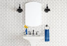 white bathroom lighting. black and white bathroom with painted outdoor wall sconces lighting