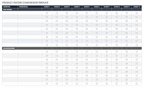013 Free Product Comparison Chart Template Excel Ic Feature