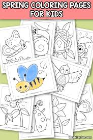 Spring Coloring Pages For Kids Itsy Bitsy Fun