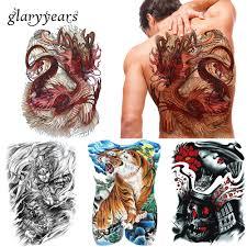 Glaryyears 20 штлот большой полный назад татуировки цветные
