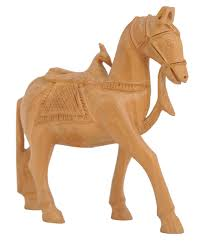 bulk source 4 wood horse statue figurine with peacock saddle whole wooden horse sculpture decorative home decor statues gift