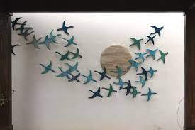 Collection by rachel carmel • last updated 4 weeks ago. 20 Flying Birds Outdoor Wall Art Made From Ceramic Outdoor Decor For Walls Birds Garden Decor Glazed In Turquoise Garden Art Birds Cranes In 2021 Flying Birds Wall Art Outdoor Wall Art