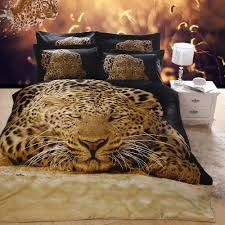 popular duvet covers brown buy cheap duvet covers brown lots from 3d oil painting bedding set black brown leopard animal print bed linens sexy home textile comforters