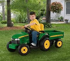 peg perego john deere turf tractor with trailer