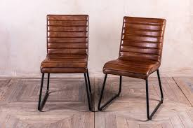 great hutch frank vintage real leather dining chair in tan leather dining chairs designs