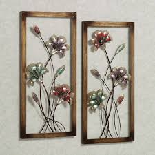 metal flowers wall art himalayantrexplorers in best and newest metal wall art flowers