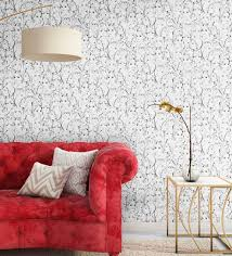 black white ps wallpaper nilaya wall coverings by asian paints