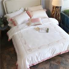 new white bedding set egyptian cotton bed sheets embroidery duvet cover flat bedspread sets home textile bed sheets r56 white