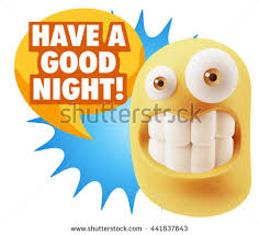 goodnight emoji 3d illustration laughing character emoji expression stock