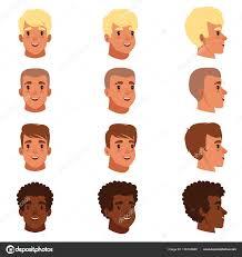 男性頭アバターのイラストは別の髪型を設定しますクラシックの粋な
