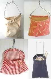 clothespin bag planters