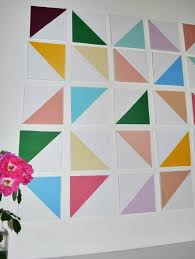take the foam board sheet and use a ruler to trace a grid the height and width you want the final squares or rectangles to be  on foam sheet wall art with diy dimensional geometric wall art a joyful riot