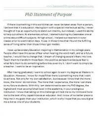 Statement Of Purpose Graduate School Example Graduate School Statement Of Purpose Sample