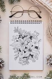 Does your kid love & experiment with various colors? Winter Flowers Coloring Page Printable Fox Hazel Free Art Designs