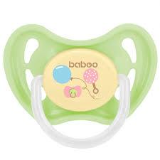 Пустышка <b>Baboo Соска Baby</b> Shower круглая латексная ночная 6 ...