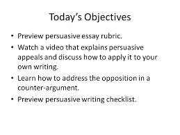 Persuasive Essay Rubric A Short Informal Report For An Argumentative Essay For College