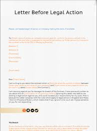 Court Document Templates Letter Before Action Template From Lawbite
