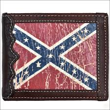 tooled vintage flag leather mens bifold wallet confed flag bifold w tn edges