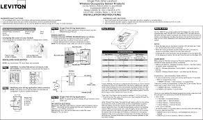 Wsc Wsc User Manual Leviton Manufacturing