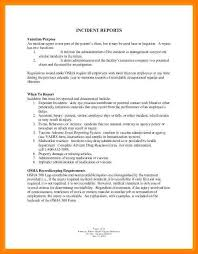 How To Write An Incident Report Veteransforum Us