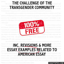 the challenge of the transgender community essay the challenge of the transgender community