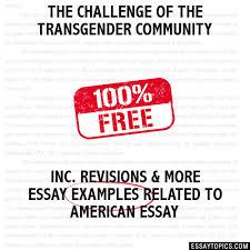 the challenge of the transgender community essay the challenge of the transgender community