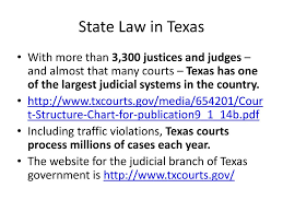 Texas Courts Chart Law Courts And Justice In Texas Ppt Download