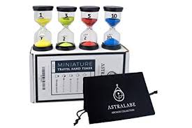 Sand Timer Hourglass Travel Set Of 4 Storage Pouch 1 Minute 3 Min 5 Min 10 Min Perfect For Games Home Office Kitchen Classroom