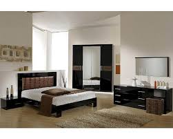 Black modern bedroom sets Black Wood Home Furniture Mart Modern Bedroom Set In Black Brown Finish Made In Italy 44b5111bb