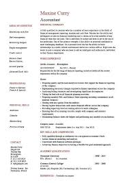 Accountant Resume Template Accountant Resume Example Accounting Job  Description Template Printable