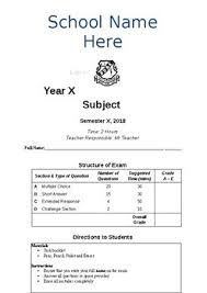 Exam Cover Page Template By Mr Ss Storeroom Teachers Pay