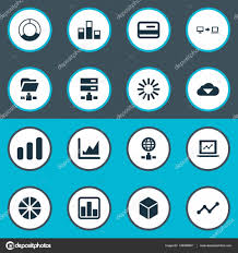 Pie Chart Synonym Vector Illustration Set Of Simple Information Icons